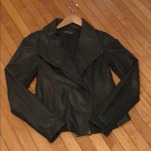 Vince Scuba Leather Jacker Size Medium